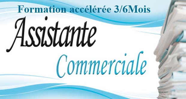 Formation en secrétaire commerciale responsable commerciale GRH technique de vente Marketing Webmarketing prospection commercial